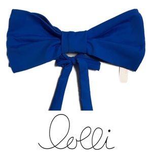 Lolli Bow Swim Top Blue